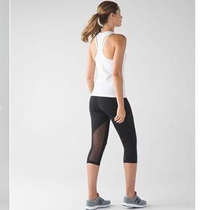 "Lululemon Outrun 17"" Crop Black leggings 4"